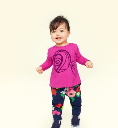 Mackintosh Rose Graphic Tee Baby Girl