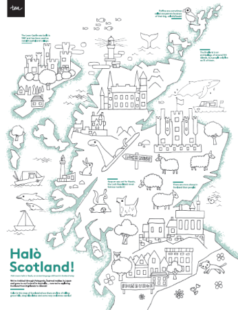 Scotland Kids Coloring Map