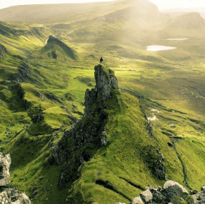 Scotland Green Mountain Ranges