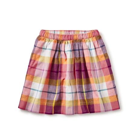 girls back to school plaid skirt