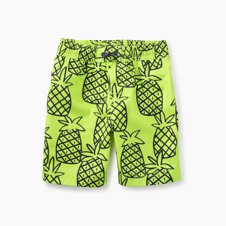 Pineapple Print Swim Trunks