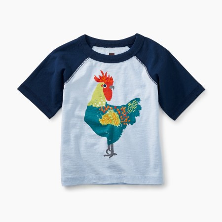 Rooster Graphic Baby Raglan Tee