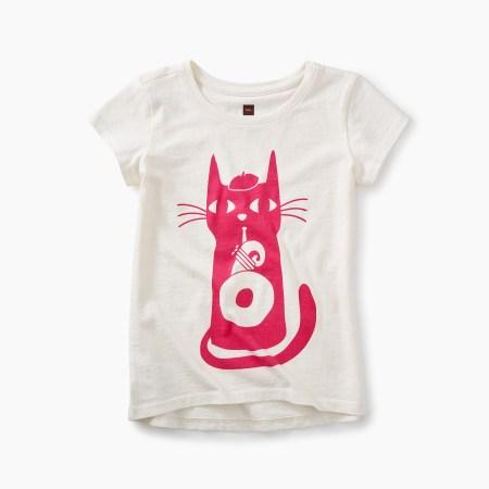 Girls Jazz Cat Graphic