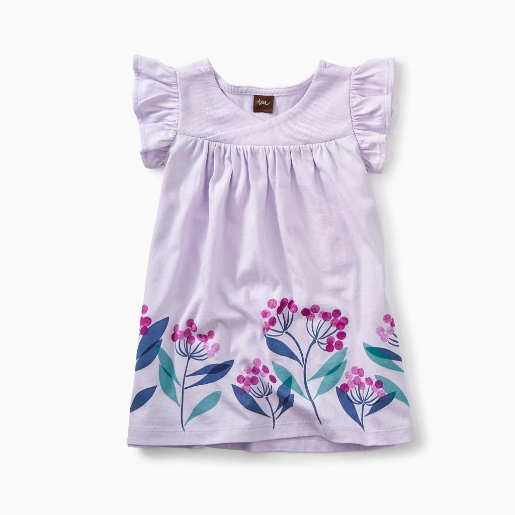 Graphic Wrap Neck Baby Dress