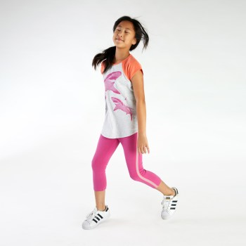 Girls Shark Raglan Graphic Tee
