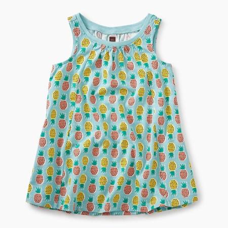 Pop-Color Pineapples Trapeze Dress