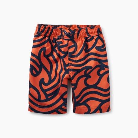 Boys Print Swim Trunks