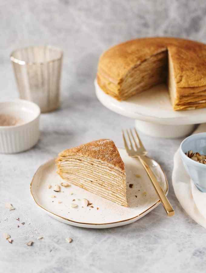 Pumpkin Crepe Cake | Teak & Thyme