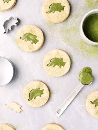 Matcha Triceratops Cookies | Teak & Thyme