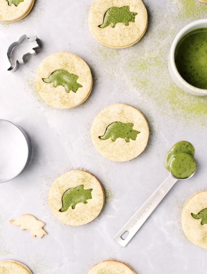 Matcha Triceratops Cookies | Teak & Thyme