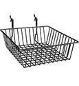 slatwall baskets menu pop up