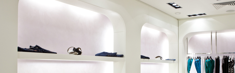 Branded Experience shelves