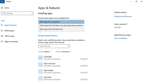 New Windows 10 Feature Allows Block On Win32 Apps