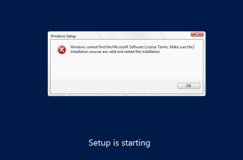 Error: Windows Cannot Find The Microsoft Software License