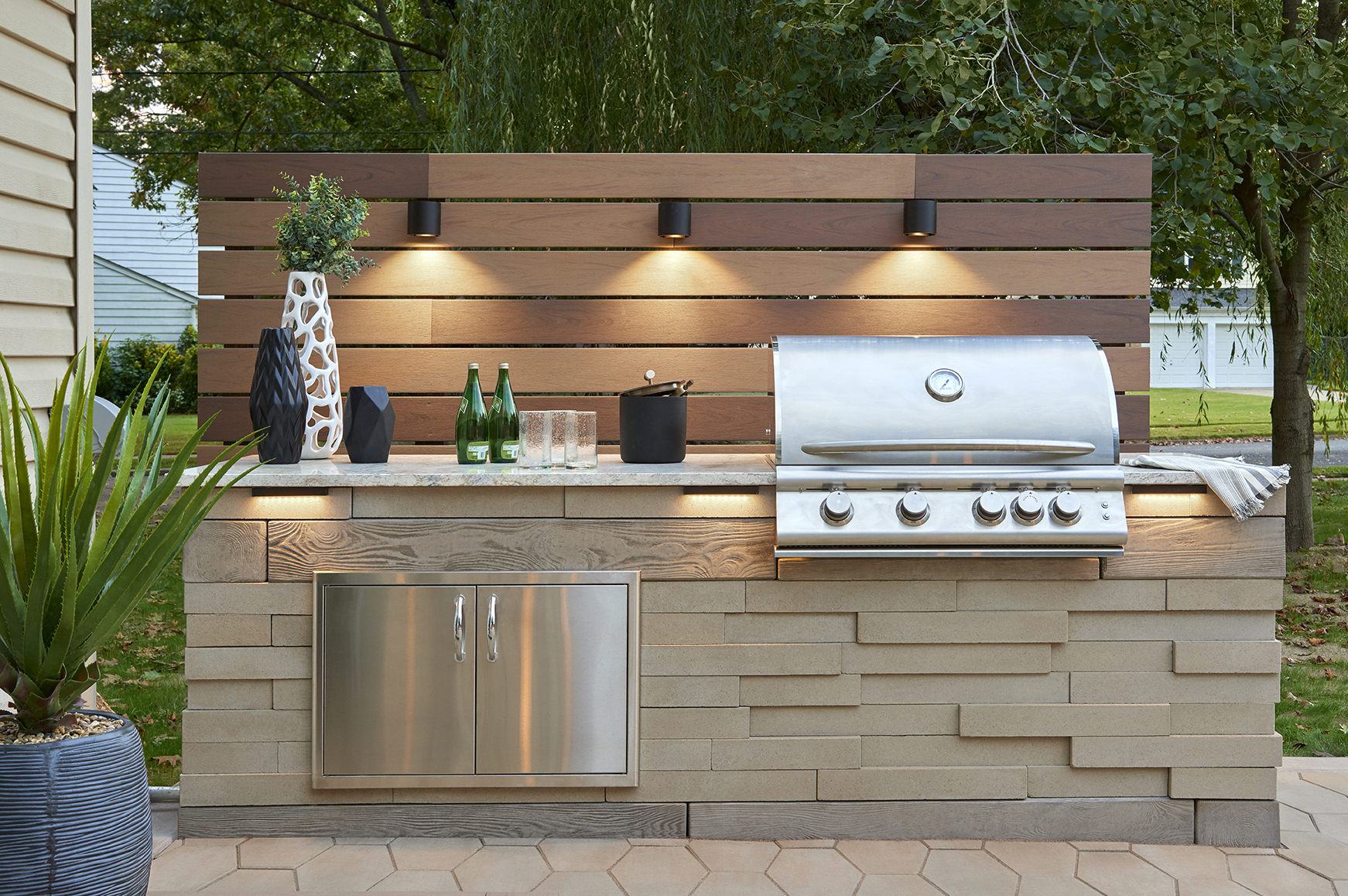 10 outdoor kitchen countertop ideas and