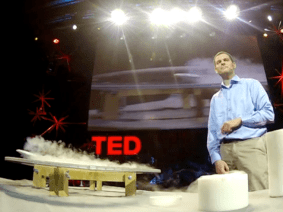 Quantum levitation in action: Raw footage from Boaz Almog's TEDGlobal talk