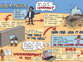 Sugata Mitra's talk, in cartoon form