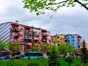 8 views of Tirana, Albania — with its bright, multicolored buildings