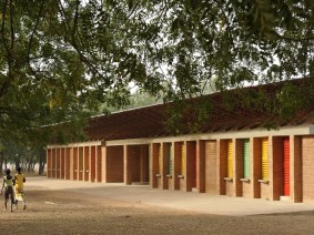 Gallery: A school and a clinic, built from compressed clay