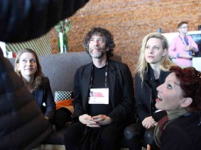 Neil Gaiman tells ghost stories late in the night at TED2014