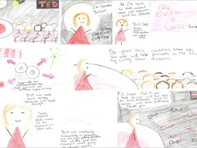 Meet Jennifer Brain, your new favorite TED speaker, and the 13-year-old student who drew her