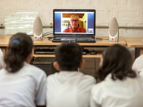 Musings of a male granny: This retired schoolteacher spends his free time Skyping with Indian schoolkids