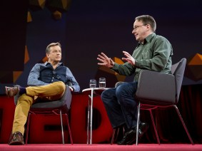 The quotable Linus Torvalds, live onstage at TED