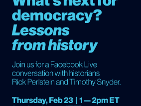 Watch now: What's next for democracy? A live Facebook chat