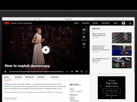 An updated design for TED Talks