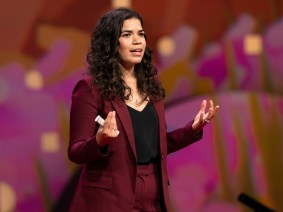 """Presence creates possibility"": America Ferrera at TED2019"