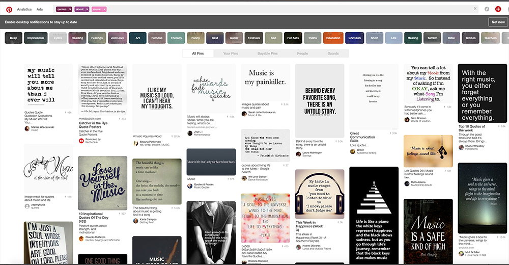 Quote Search on Pinterest