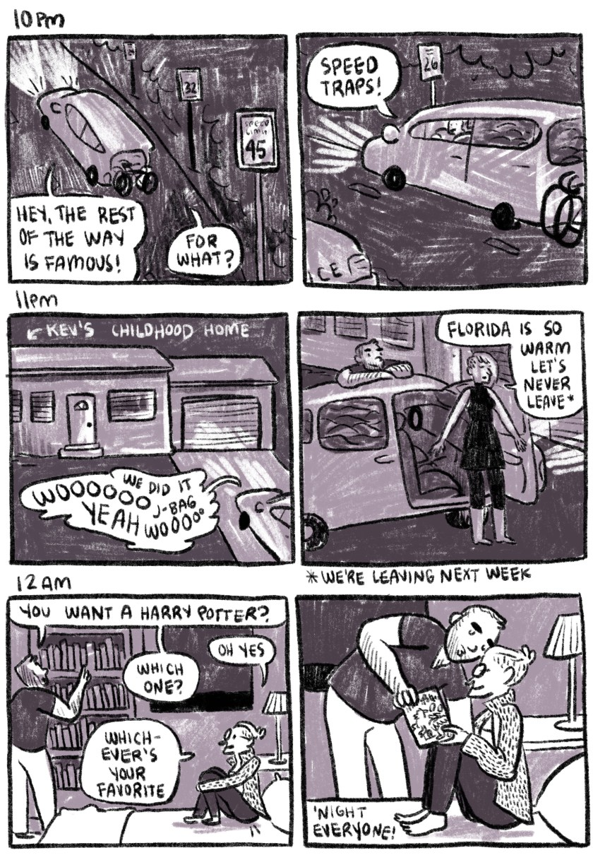 hourly comics 2018, 7pm-12am