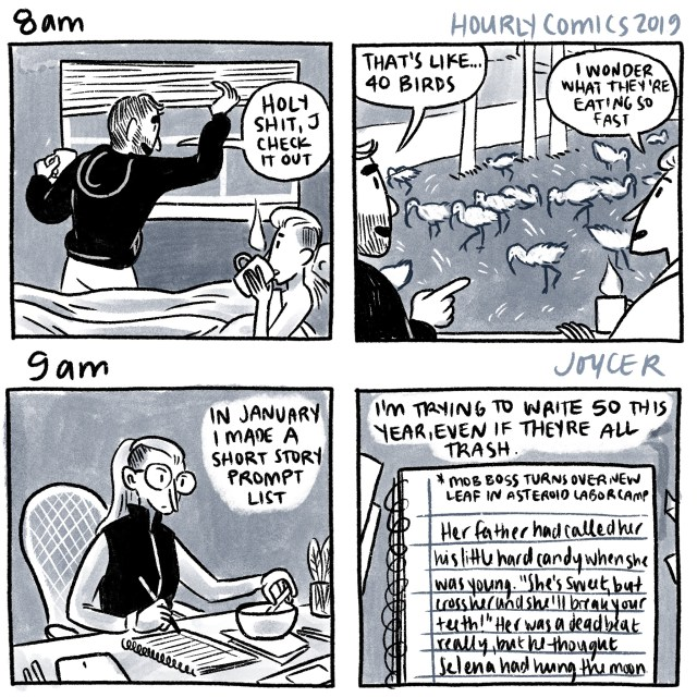 hourly comics 2019, 8am-9am