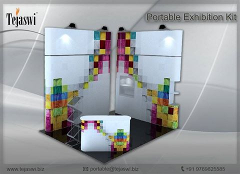 Portable Exhibition Kit : Portable exhibition kit and exhibition stall fabrication dsigner