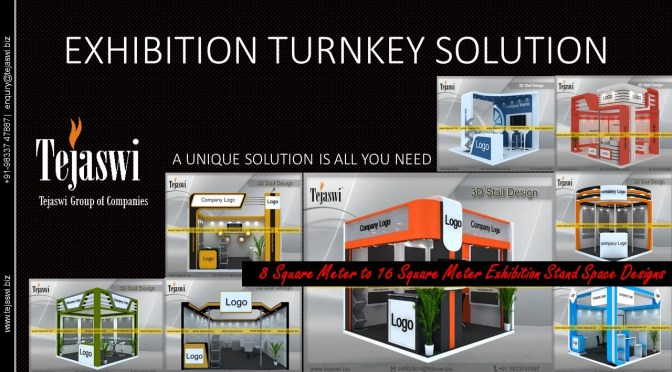 Exhibition Stand Solutions – 8 Square Meter to 16 Square Meter Exhibition Stand