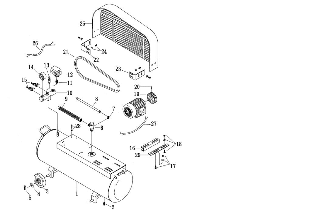 Komponen Kompresor Udara - Tangki