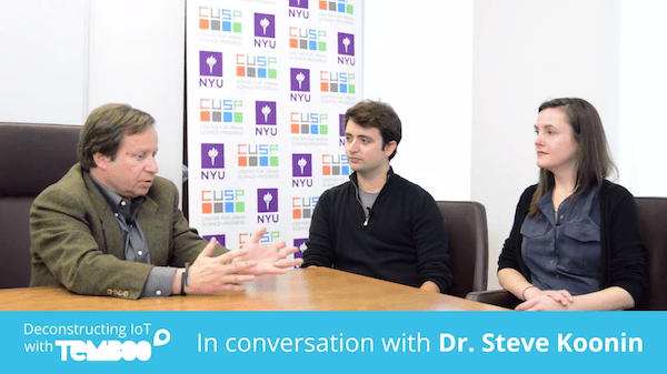 Temboo interviewing Dr. Steve Koonin