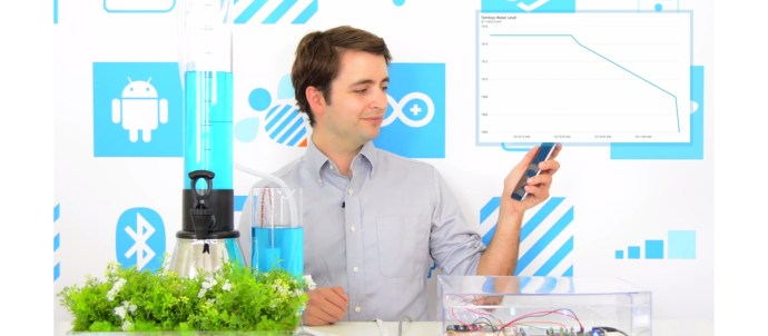 Man using Samsung and Temboo