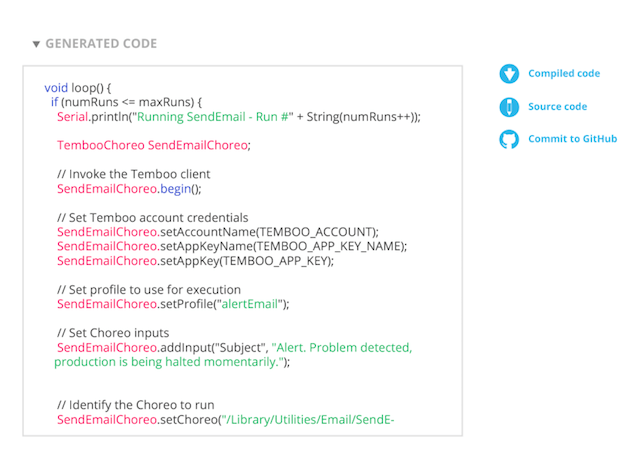 Temboo generated code