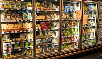 Refrigerators in a supermarket