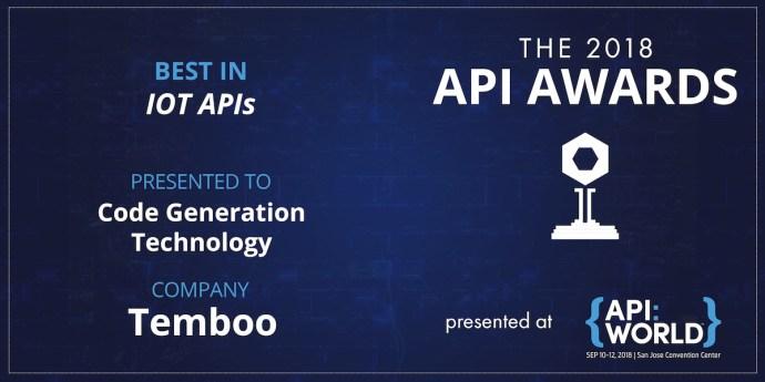 API Award Text Image