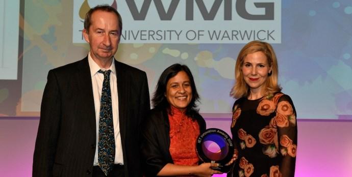 Temboo's President holding IET Innovation Award
