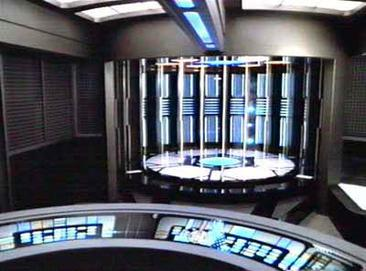 Transporter chamber aboard the USS Voyager