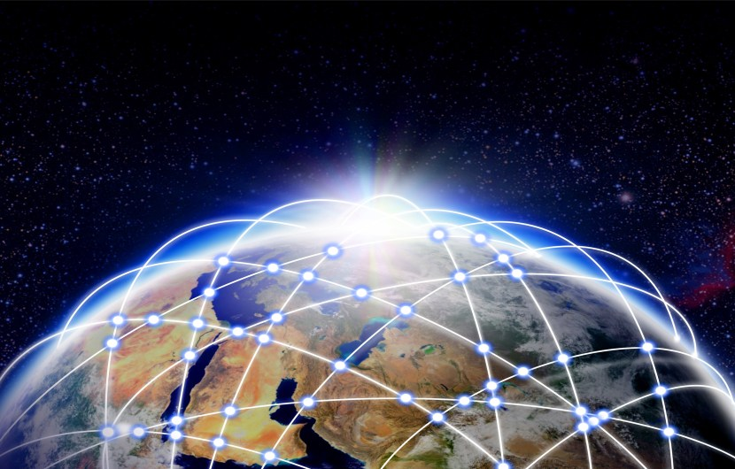 IoT stock photo showing connected world