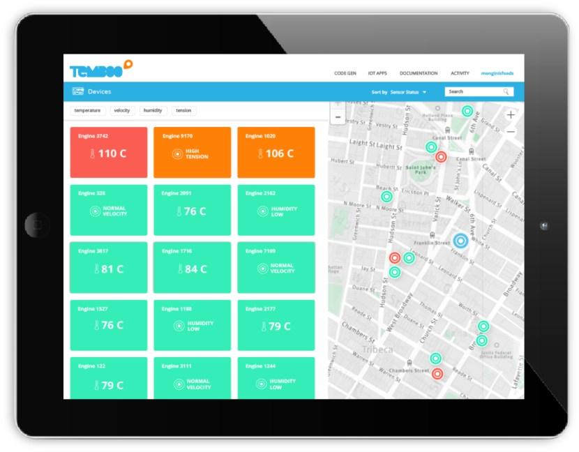 Kosmos dashboard on an iPad