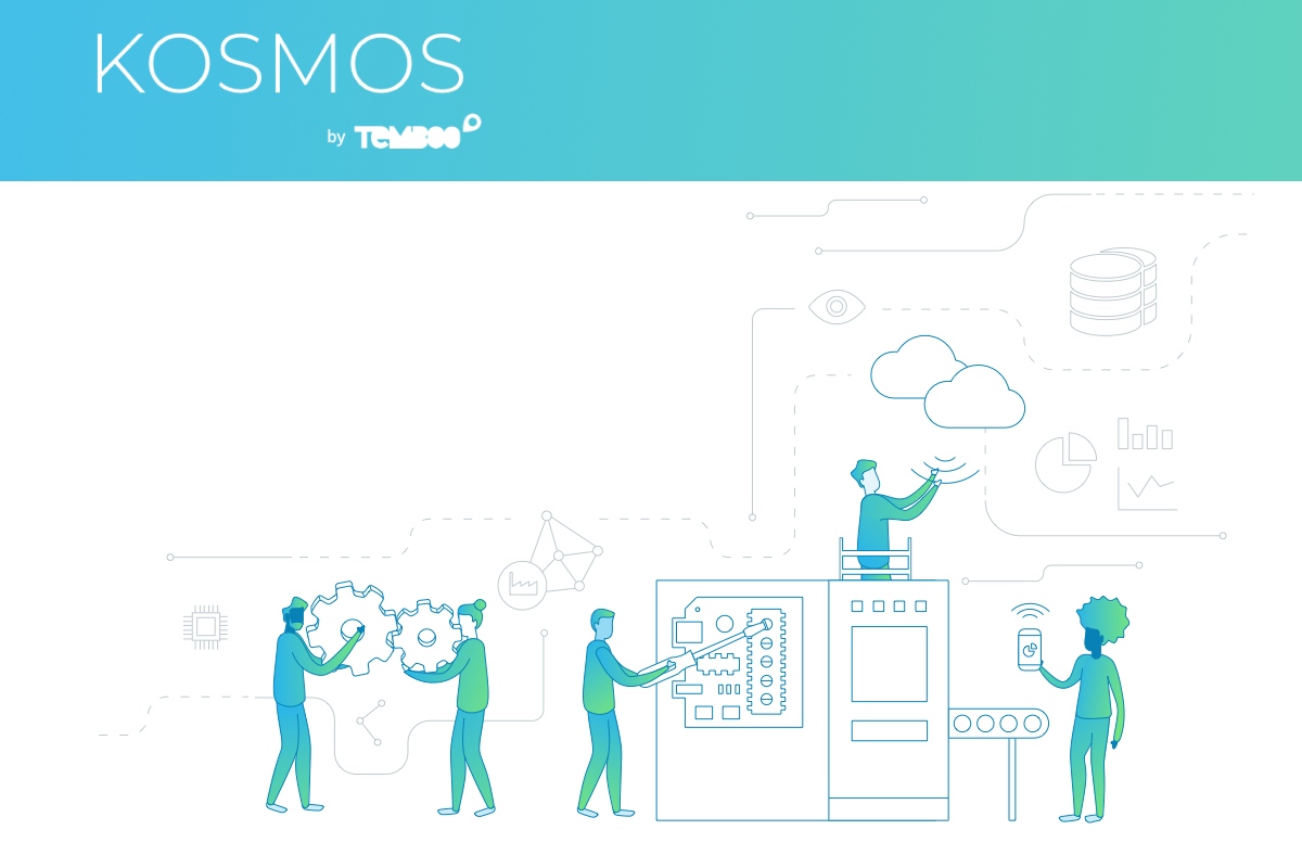 Illustration of people using Kosmos