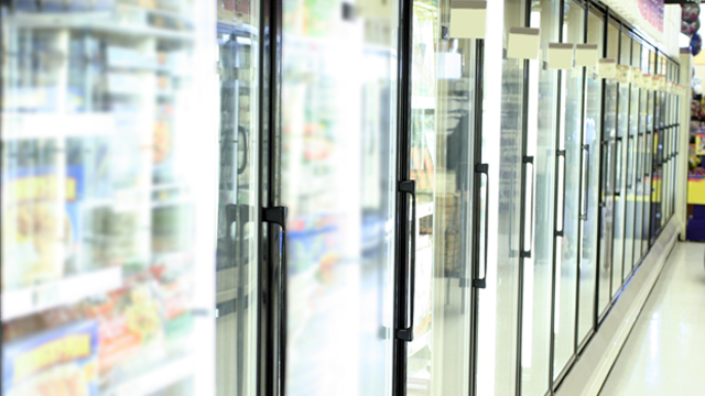 Freezers in a supermarket