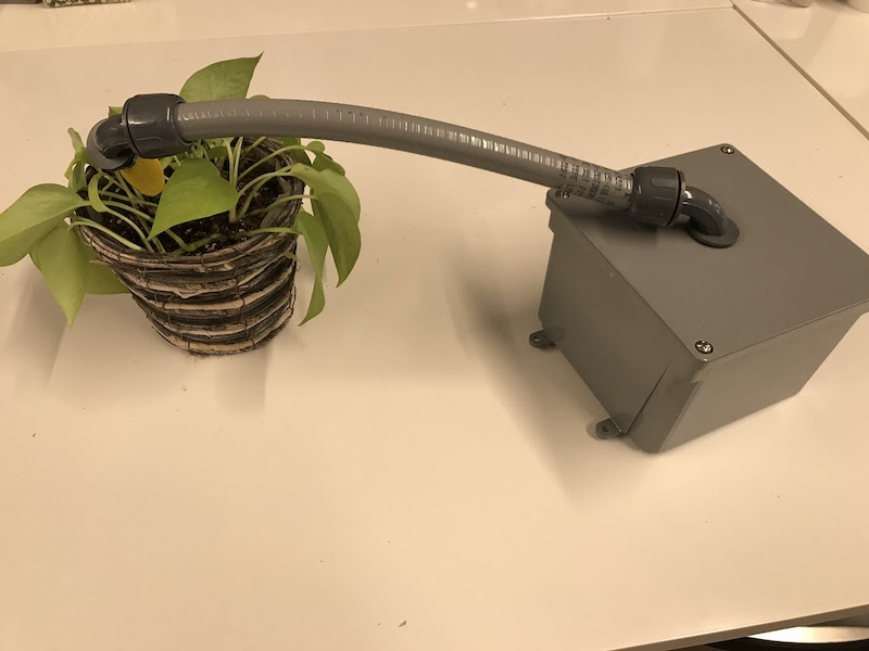 Weatherproof soil moisture sensor enclosure