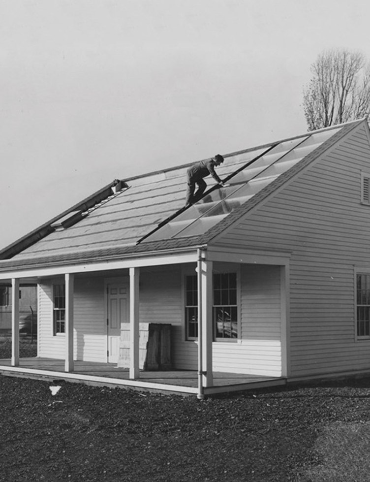 A photo of MIT Solar House 1