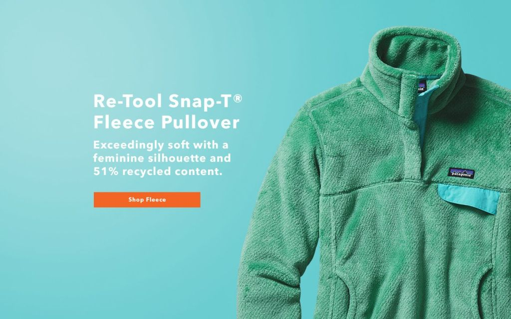 Patagonia ad touting recycled materials